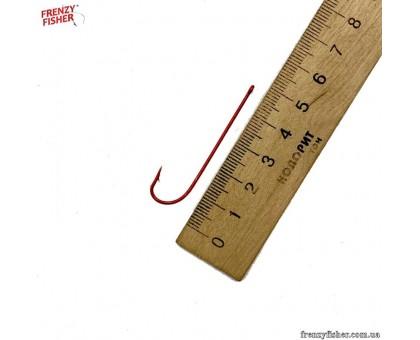 Крючок Красный длинное цевье 1 (цена за 25шт\уп)