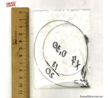Поводки AFW плет. 1х7, 18кг, 30см (2шт)