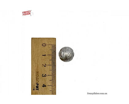 Грузик шар сквозной 25гр. (100шт/уп)