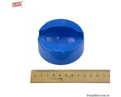 Толкалка большая синяя круглая пластик