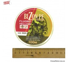 "Шнур ""BIZON"" PE Fluoro YELLOW  0.10mm 100m (желтый)"