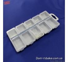 Коробка Aquatech 2310 одинарная на 10 ячеек с крышкой