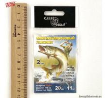 Поводки флюорокарб.Carp Diem  0.45мм, 20см, 11кг (2шт.)