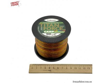 Леска Kalipso Titan Force Carp Multicolor 1000m 0,30мм