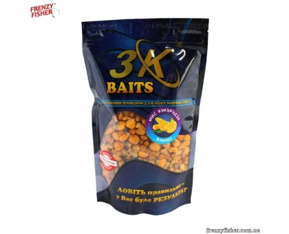 Наживка 3К Baits MIX Зерновой кукуруза (банан) 500г.