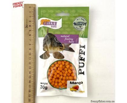 Наживка тесто воздушное Puffi Grizzly baits30гр. манго