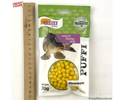 Наживка тесто воздушное Puffi Grizzly baits30гр. ананас