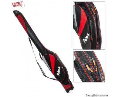 Чехол для удочек 1,35м FEIMA 1 отд.+1 карман, красно-черный жесткий под кат.