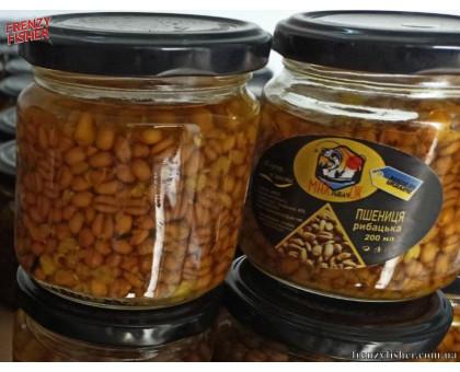 Наживка пшеница консервированная MAX рыбачОК 200мл.(конопля)
