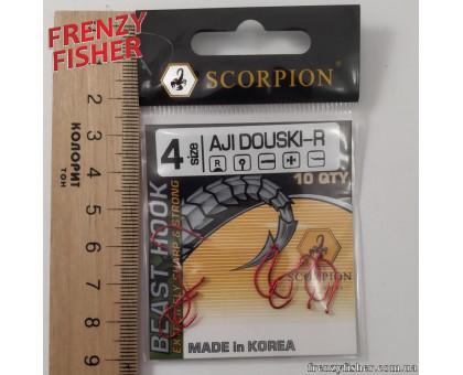 Крючок Scorpion AJI DUOSKI RED № 4