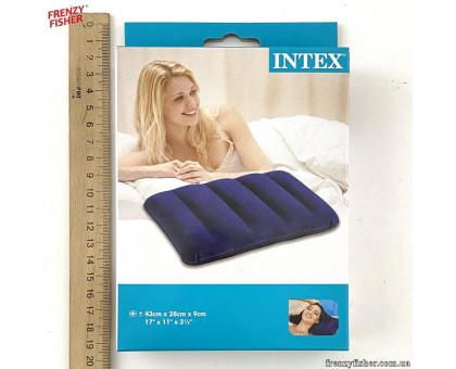 Подушка надувная 68672 синяя 43*28*9см.