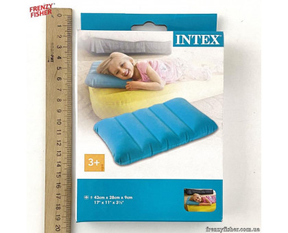 Подушка надувная 68676 (43*28*9 см.) 3 цвета, в кор.