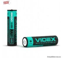 Аккумулятор в фонарик 18650 3.7V VIDEX 2200 ЗАЩИТА