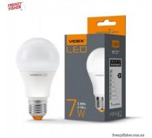 LED лампа VIDEX  A60e 7W E27  3000K  220V