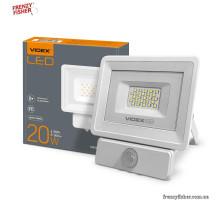 LED Прожектор VIDEX  20W 5000K  220V (4612) с датчиком движения